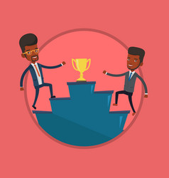 businessmen competing for the business award vector image vector image