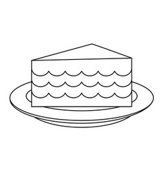 cake silhouette vector image vector image