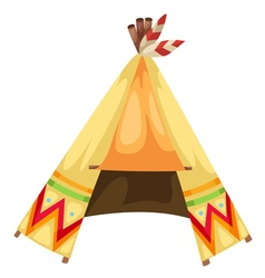 cartoon indians tepee vector image