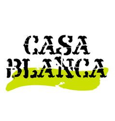 Casablanca sticker stamp vector
