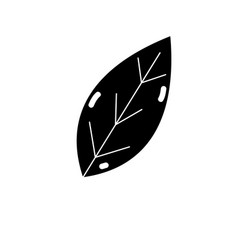 Contour natural leaf symbol to conservation the vector