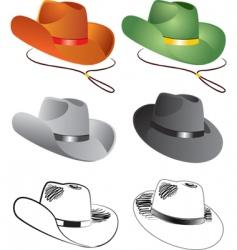 Cowboy hats vector