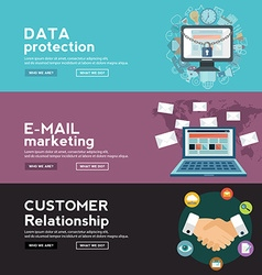 Data protection e mail marketing and costumer vector