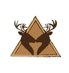 deer emblem icon image vector image
