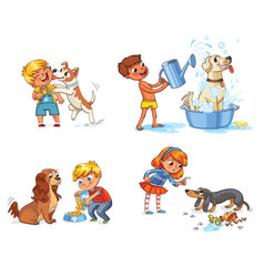 dog training funny cartoon character vector image