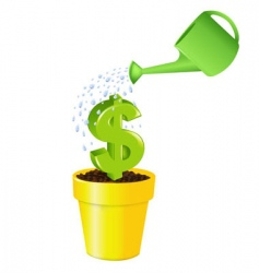 dollar in pot vector image vector image