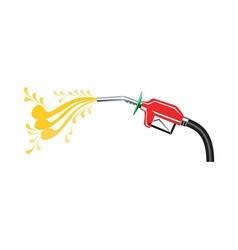 Fuel pump nozzle side retro vector