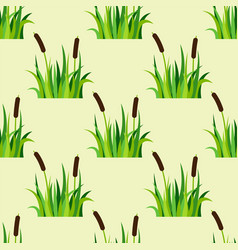 Green grass nature design seamless pattern vector