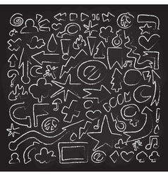 Hand drawn doodle objects vector