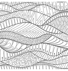 Hand drawn stripe monochrome background outline vector