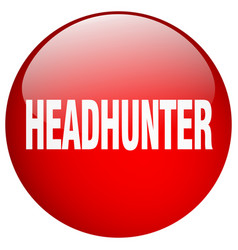 Headhunter red round gel isolated push button vector