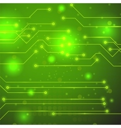 High Tech Printed Circuit Board vector image vector image
