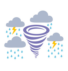 icons storm rain and clouds vector image