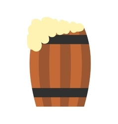 Keg of beer flat icon vector
