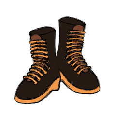 Military boots isolated vector