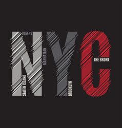 new york tee print t-shirt design graphics stamp vector image