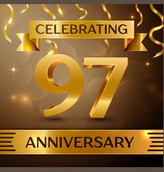 Ninety seven years anniversary celebration design vector