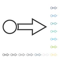Pull arrow right icon vector