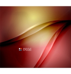 Red abstract lines background vector image