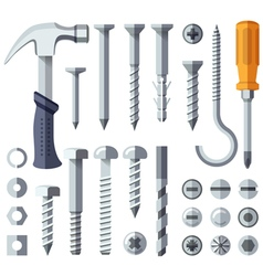 Repair tools flat icons set vector