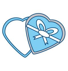 romantic gift box vector image