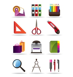 School and education bookstore tools vector image