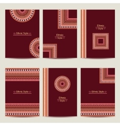 Set of geometric abstract colorful brochure vector image vector image
