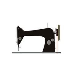 sewing machine vintage icon tailor old fashion vector image vector image