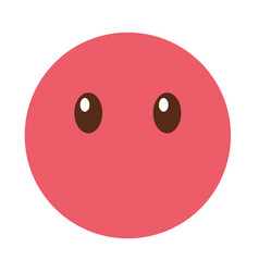 silent emoticon face kawaii style vector image vector image