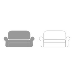 sofa set icon vector image vector image
