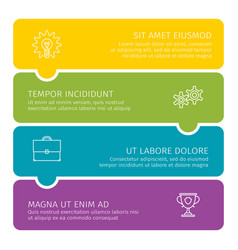 steps of process business colorful vector image