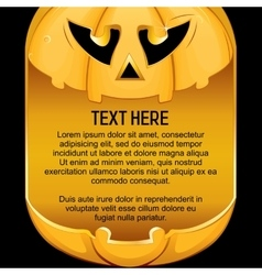 Template for Halloween Background vector image vector image