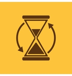 The hourglass icon Clock symbol vector image