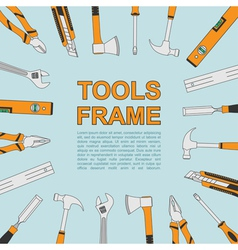 Tools frame 4 vector
