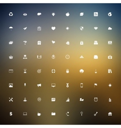 Universal outlined icons vector image