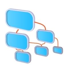 Viral marketing concept cartoon icon vector