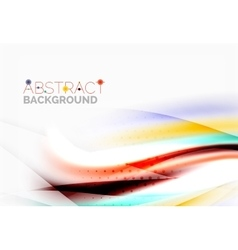 Smooth lines abstract background vector image