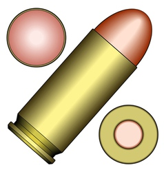 Pistol cartridge vector
