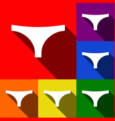 Womens panties sign  set of icons with vector
