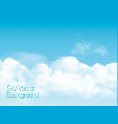 Blue sky background with white transparent vector