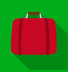 luggage icon in flat style isolated on white vector image