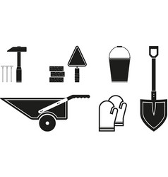 Black tools icon vector