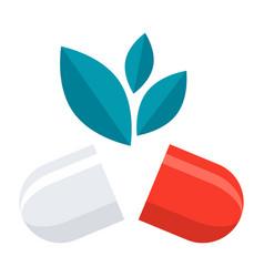 Natural medical pill vector