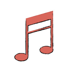 Music note armony melody icon vector