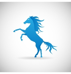 Power and strengthl symbol horse icon design vector