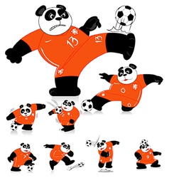 Panda soccer holland all action vector