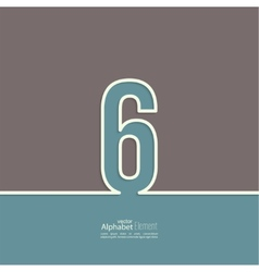 The number abstract background vector image