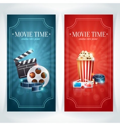 Realistic cinema movie poster template vector