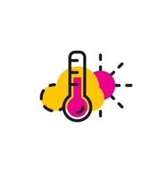 Color line icon for flat design weather and vector