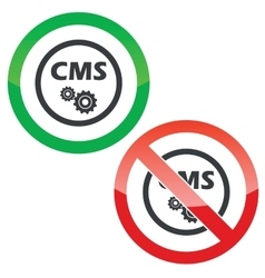 Cms settings permission signs vector